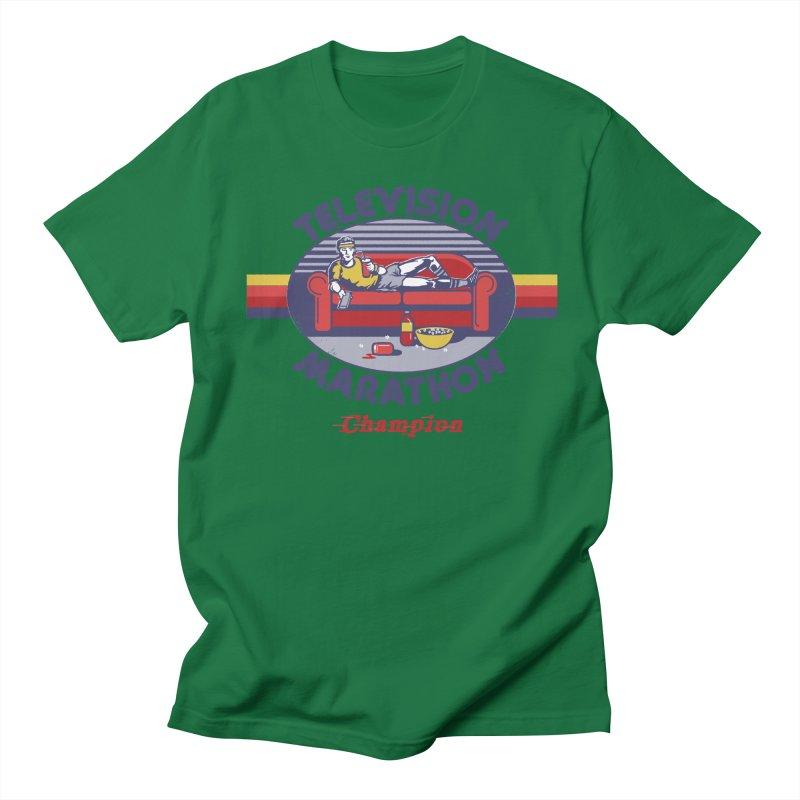 Television Marathon Champion Men's T-Shirt by Steven Rhodes