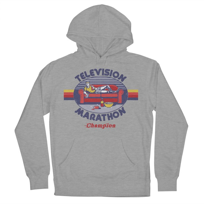Television Marathon Champion Women's French Terry Pullover Hoody by Steven Rhodes