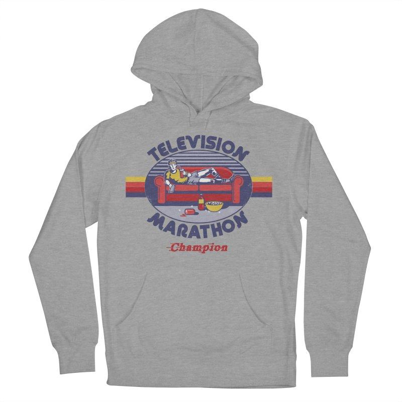 Television Marathon Champion Men's Pullover Hoody by Steven Rhodes