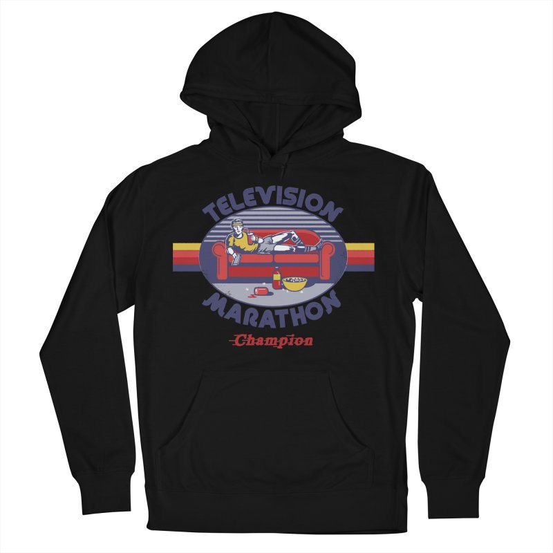 Television Marathon Champion Men's French Terry Pullover Hoody by Steven Rhodes