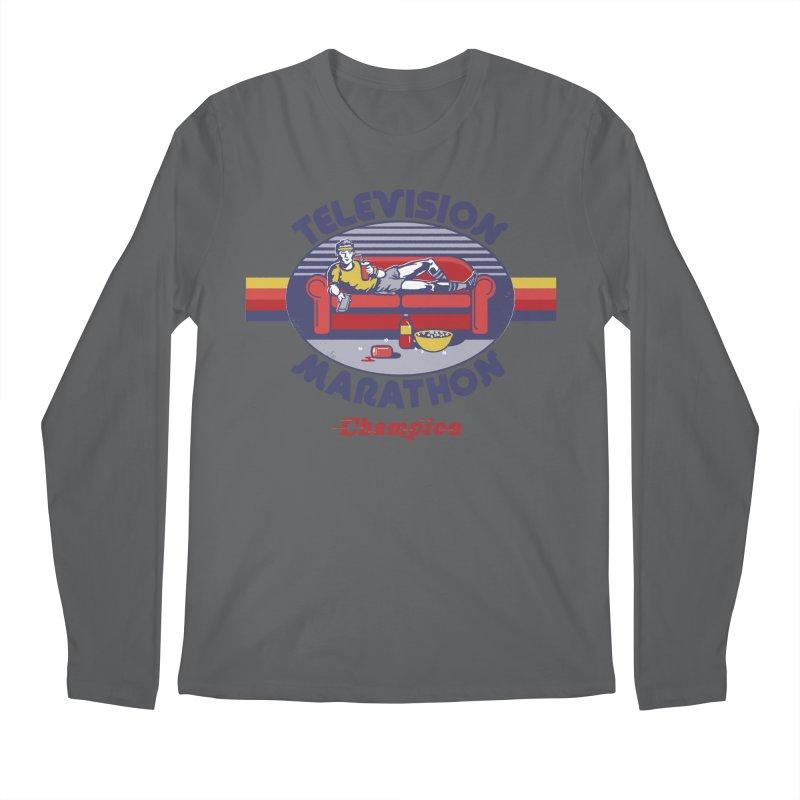 Television Marathon Champion Men's Longsleeve T-Shirt by Steven Rhodes