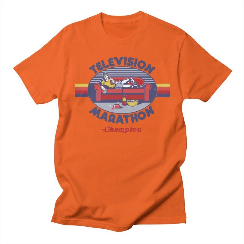 Television Marathon Champion Women's Unisex T-Shirt by Steven Rhodes