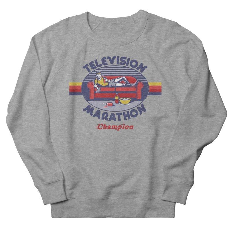 Television Marathon Champion Women's Sweatshirt by Steven Rhodes