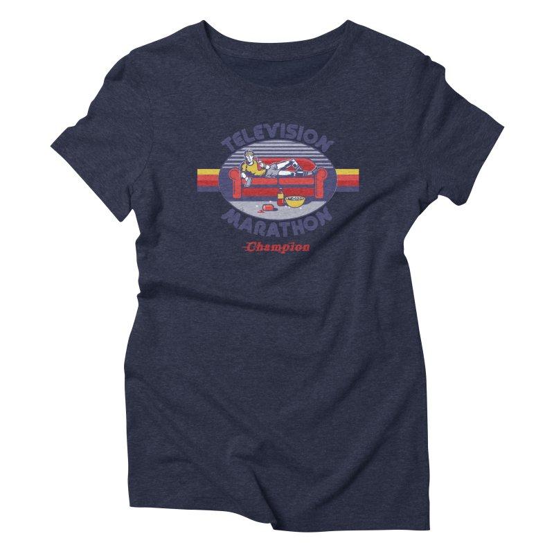 Television Marathon Champion Women's Triblend T-shirt by Steven Rhodes