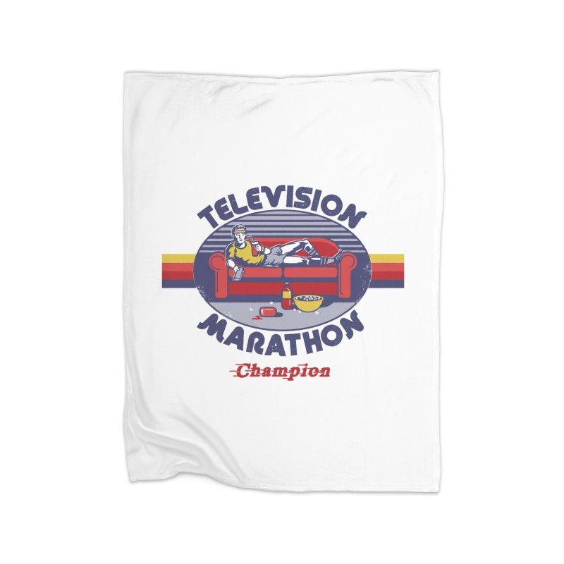 Television Marathon Champion Home Blanket by Steven Rhodes