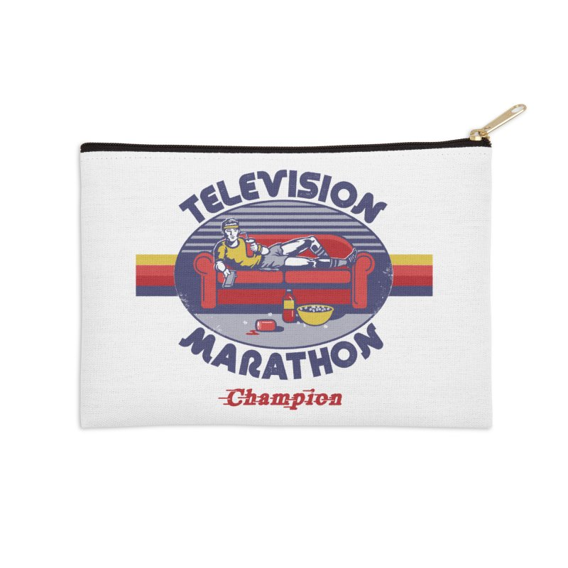 Television Marathon Champion Accessories Zip Pouch by Steven Rhodes