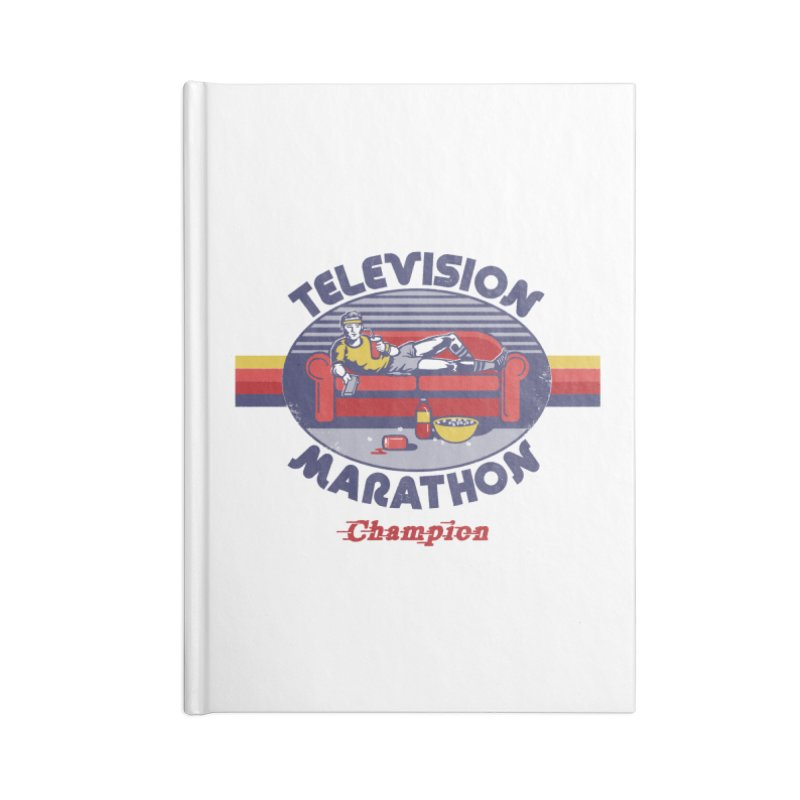 Television Marathon Champion Accessories Notebook by Steven Rhodes