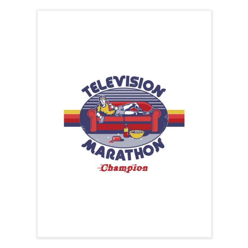 Television Marathon Champion Home Fine Art Print by Steven Rhodes