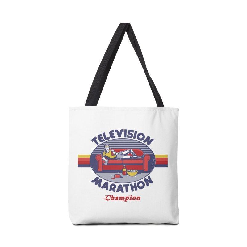Television Marathon Champion Accessories Bag by Steven Rhodes