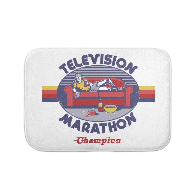 Television Marathon Champion Home Bath Mat by Steven Rhodes