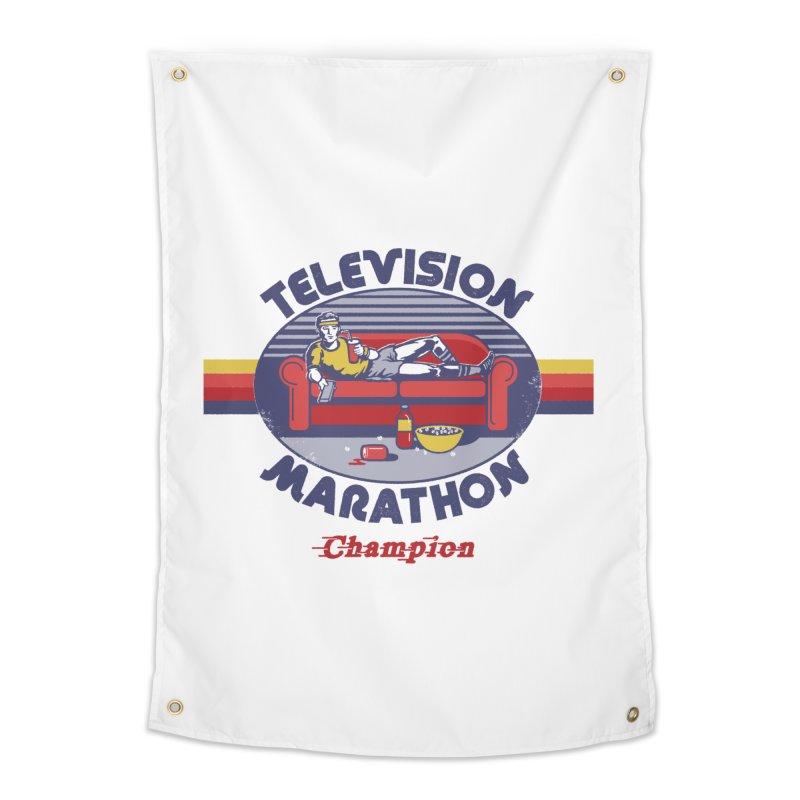 Television Marathon Champion Home Tapestry by Steven Rhodes