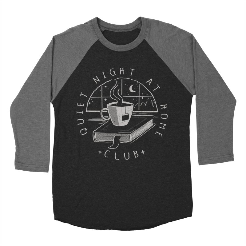 Quiet Night Club Men's Baseball Triblend T-Shirt by Steven Rhodes