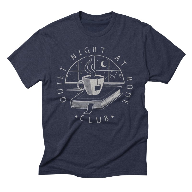 Quiet Night Club Men's Triblend T-shirt by Steven Rhodes