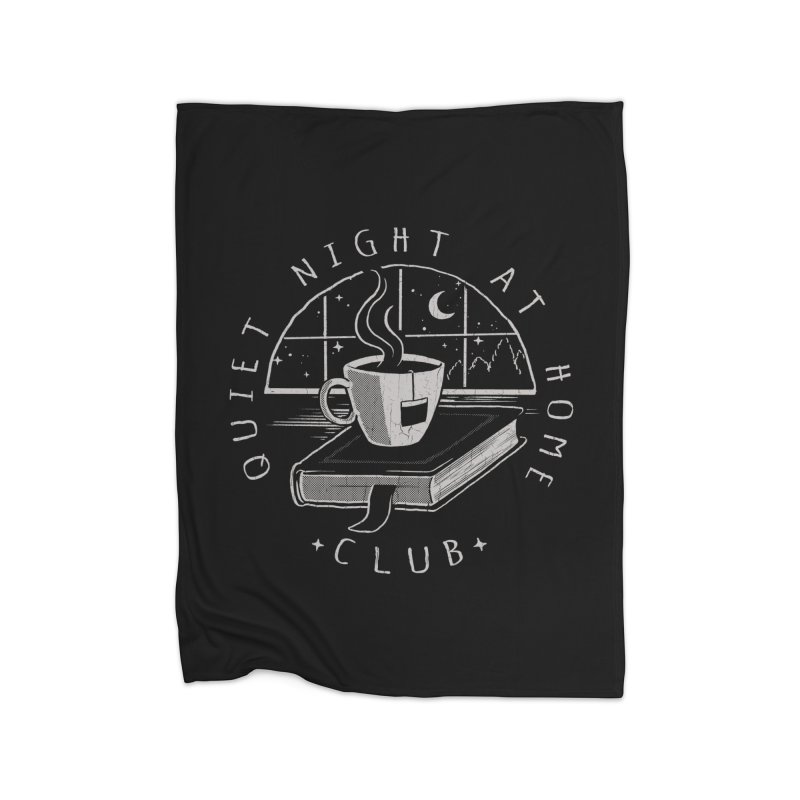 Quiet Night Club Home Blanket by Steven Rhodes