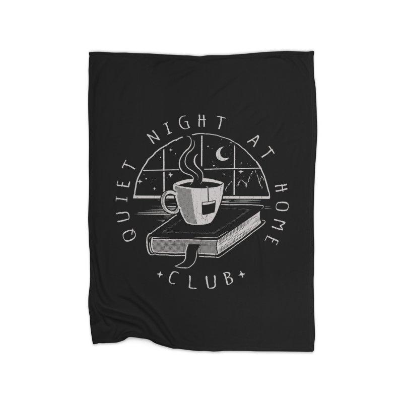Quiet Night Club Home Blanket by Steven Rhodes