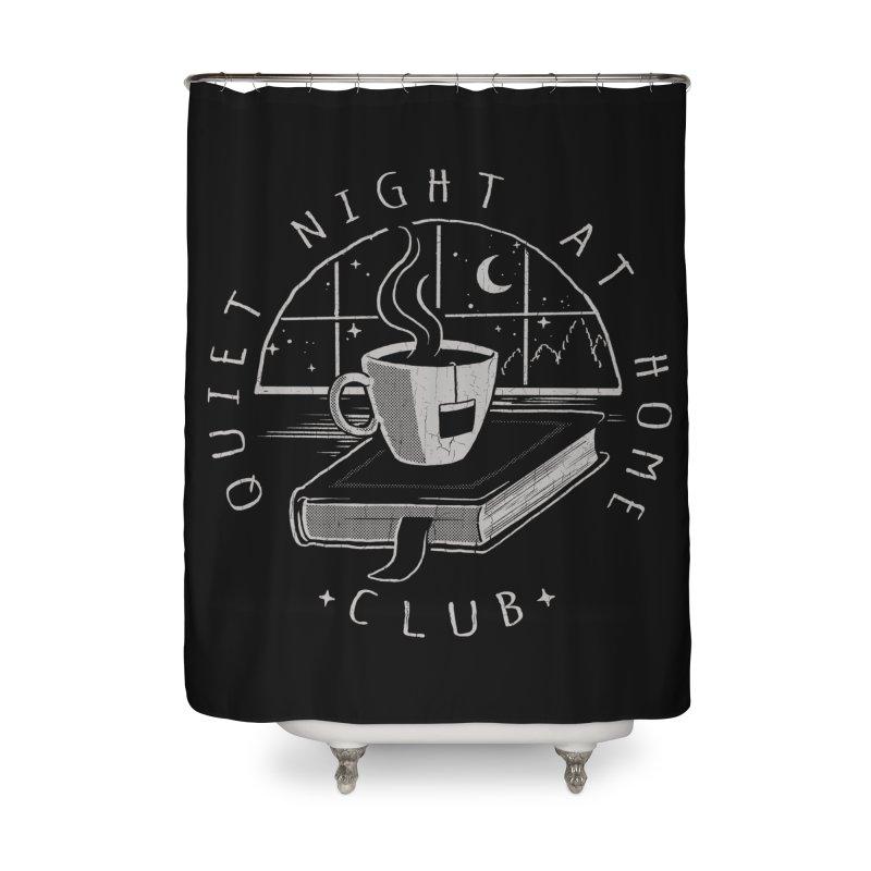 Quiet Night Club Home Shower Curtain by Steven Rhodes