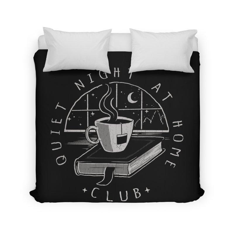 Quiet Night Club Home Duvet by Steven Rhodes