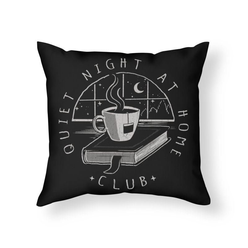 Quiet Night Club Home Throw Pillow by Steven Rhodes