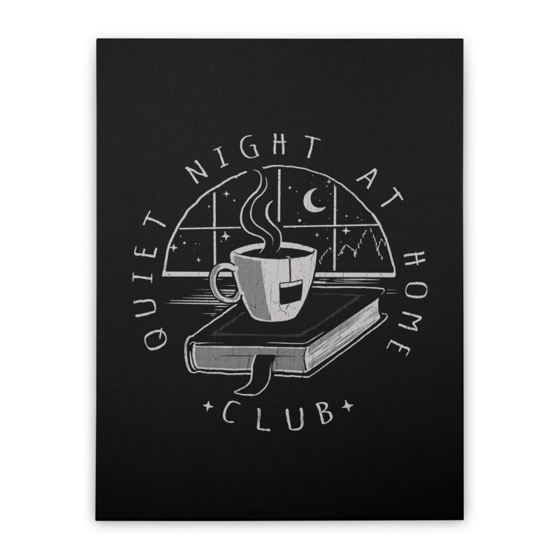 Quiet Night Club Home Stretched Canvas by Steven Rhodes