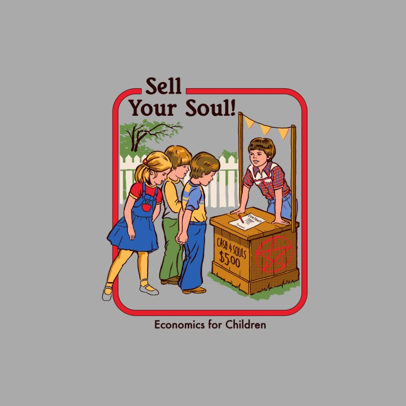 Sell Your Soul Accessories Sticker by Steven Rhodes