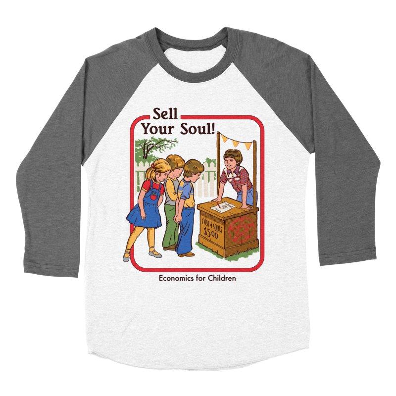 Sell Your Soul Women's Baseball Triblend T-Shirt by Steven Rhodes