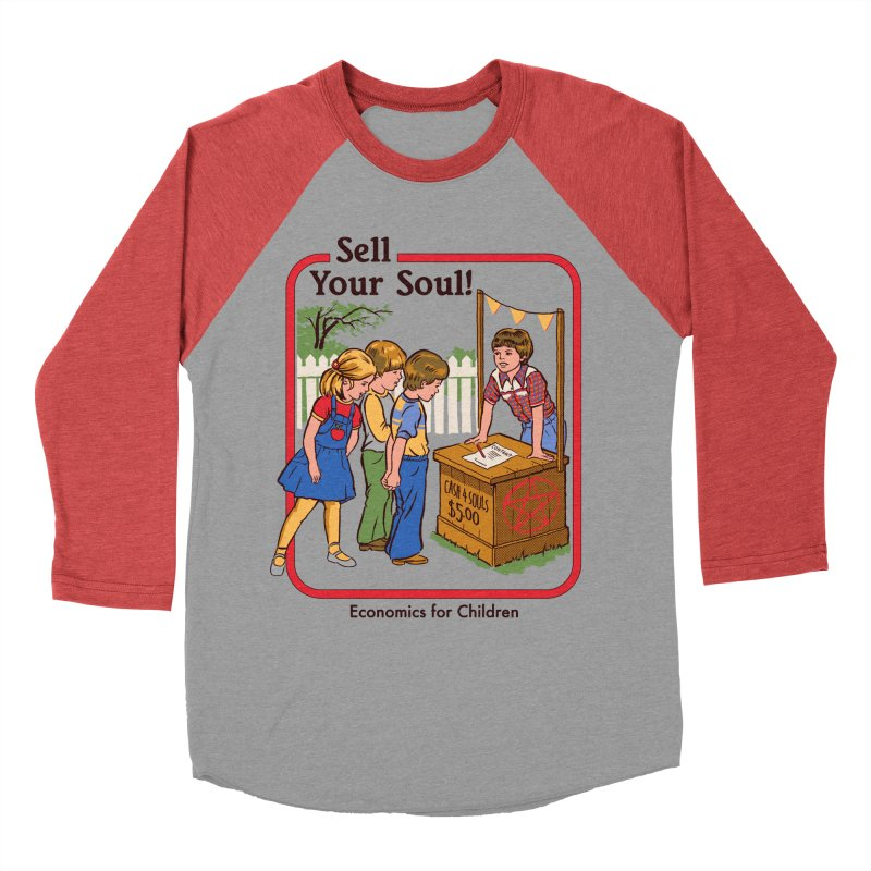 Sell Your Soul Men's Baseball Triblend T-Shirt by Steven Rhodes