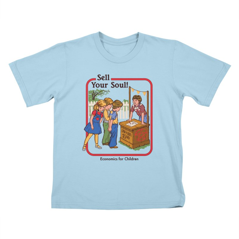 Sell Your Soul Kids T-Shirt by Steven Rhodes