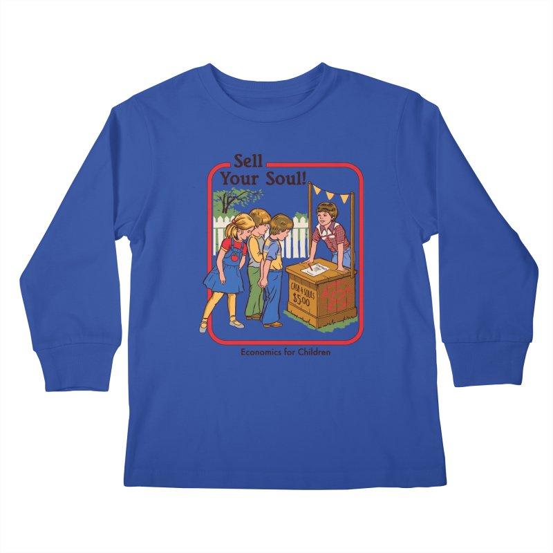 Sell Your Soul Kids Longsleeve T-Shirt by Steven Rhodes