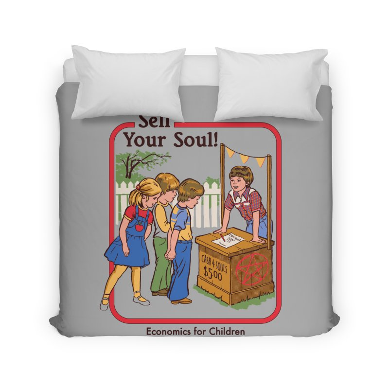 Sell Your Soul Home Duvet by Steven Rhodes