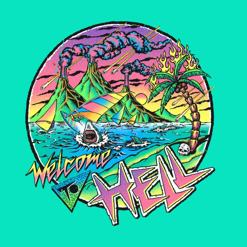 Welcome to Hell Men's T-Shirt by Steven Rhodes