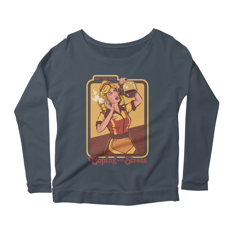 Coping With Stress Women's Scoop Neck Longsleeve T-Shirt by Steven Rhodes