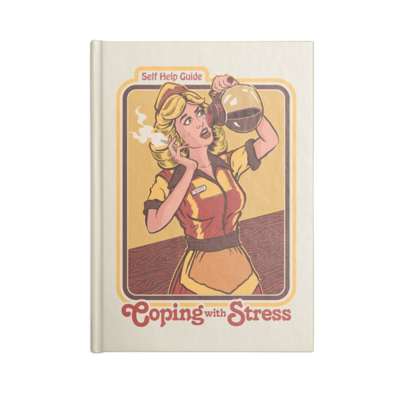 Coping With Stress Accessories Notebook by Steven Rhodes