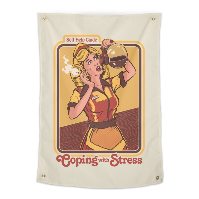 Coping With Stress Home Tapestry by Steven Rhodes