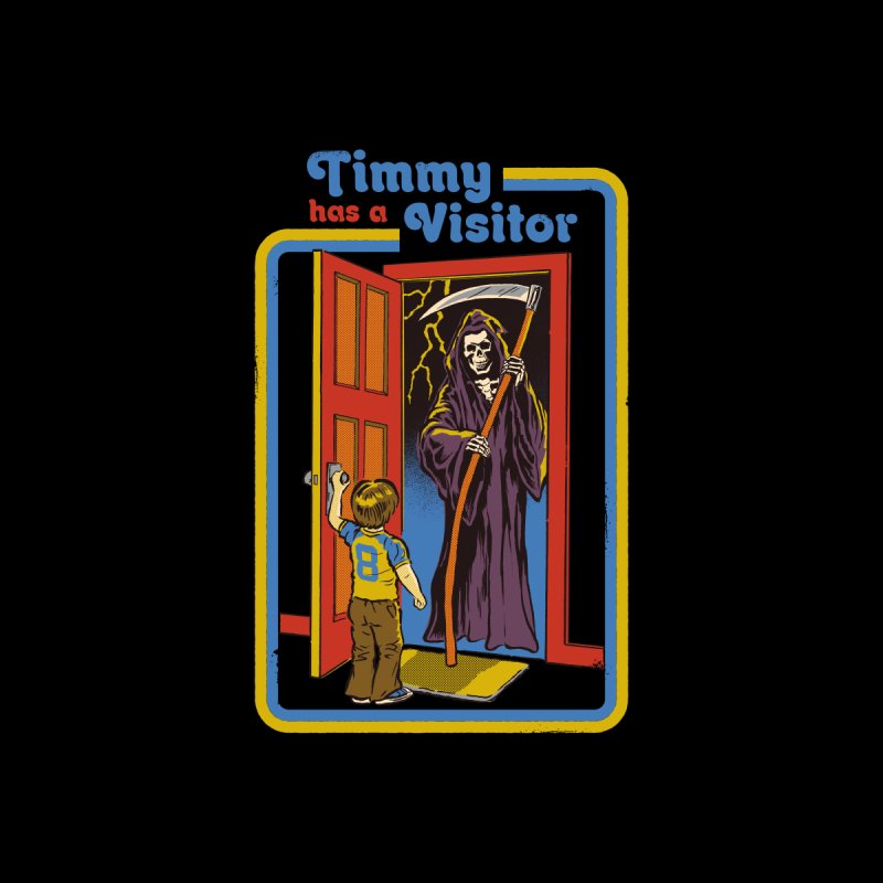Timmy has a Visitor Men's Longsleeve T-Shirt by Steven Rhodes