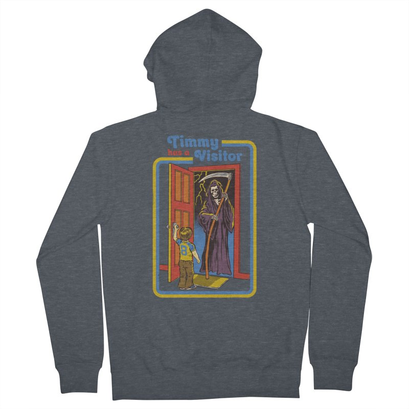 Timmy has a Visitor Men's Zip-Up Hoody by Steven Rhodes