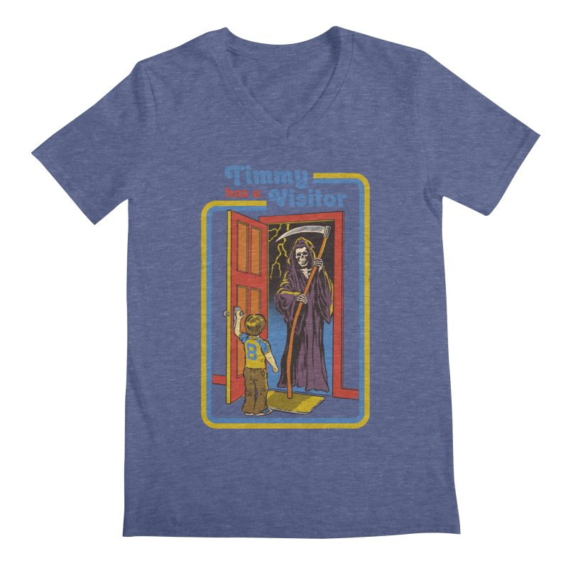 Timmy has a Visitor Men's V-Neck by Steven Rhodes
