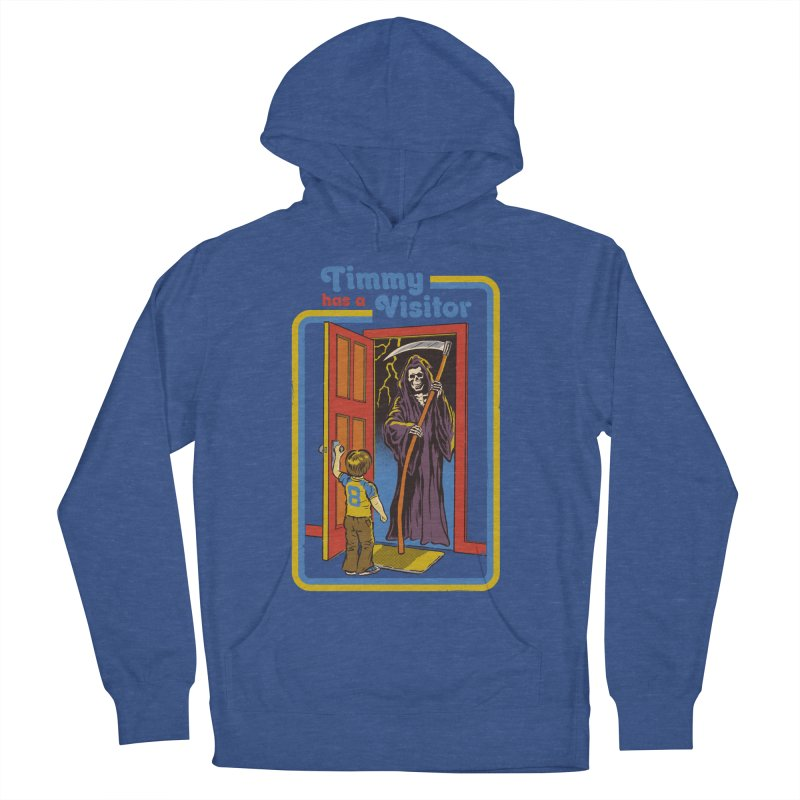 Timmy has a Visitor Men's French Terry Pullover Hoody by Steven Rhodes