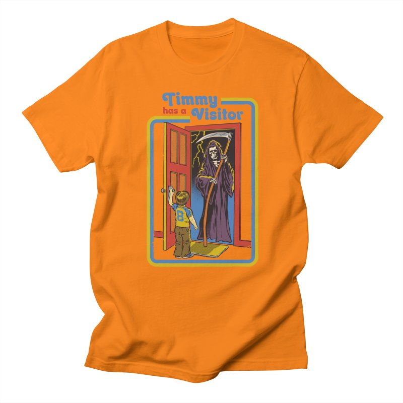 Timmy has a Visitor Men's T-shirt by Steven Rhodes