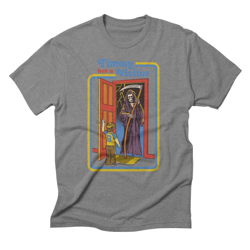 Timmy has a Visitor Men's Triblend T-Shirt by Steven Rhodes