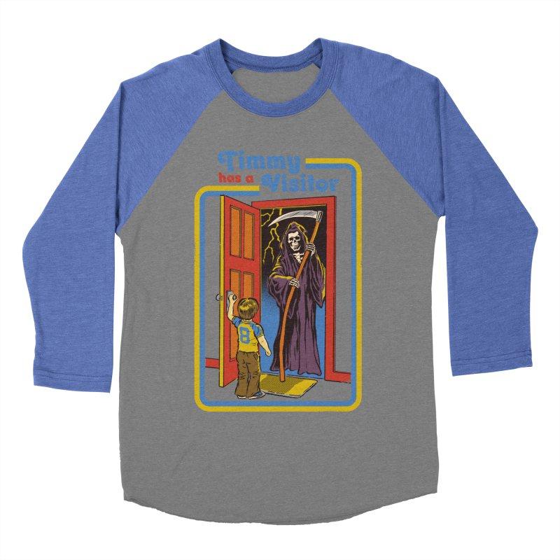 Timmy has a Visitor Women's Baseball Triblend T-Shirt by Steven Rhodes