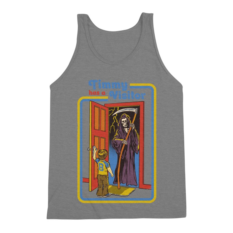 Timmy has a Visitor Men's Triblend Tank by Steven Rhodes