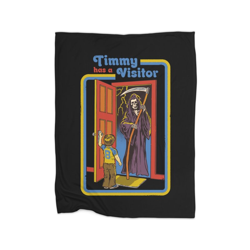 Timmy has a Visitor Home Blanket by Steven Rhodes