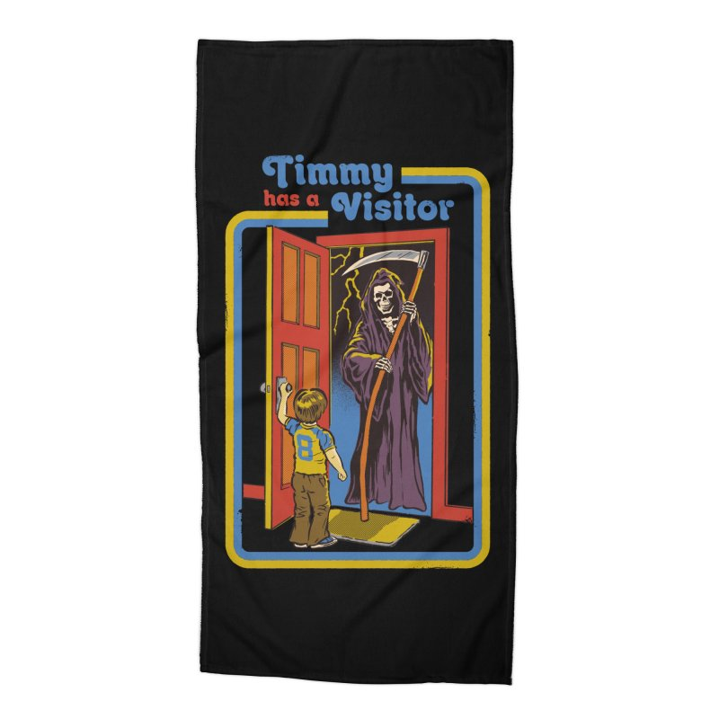 Timmy has a Visitor Accessories Beach Towel by Steven Rhodes