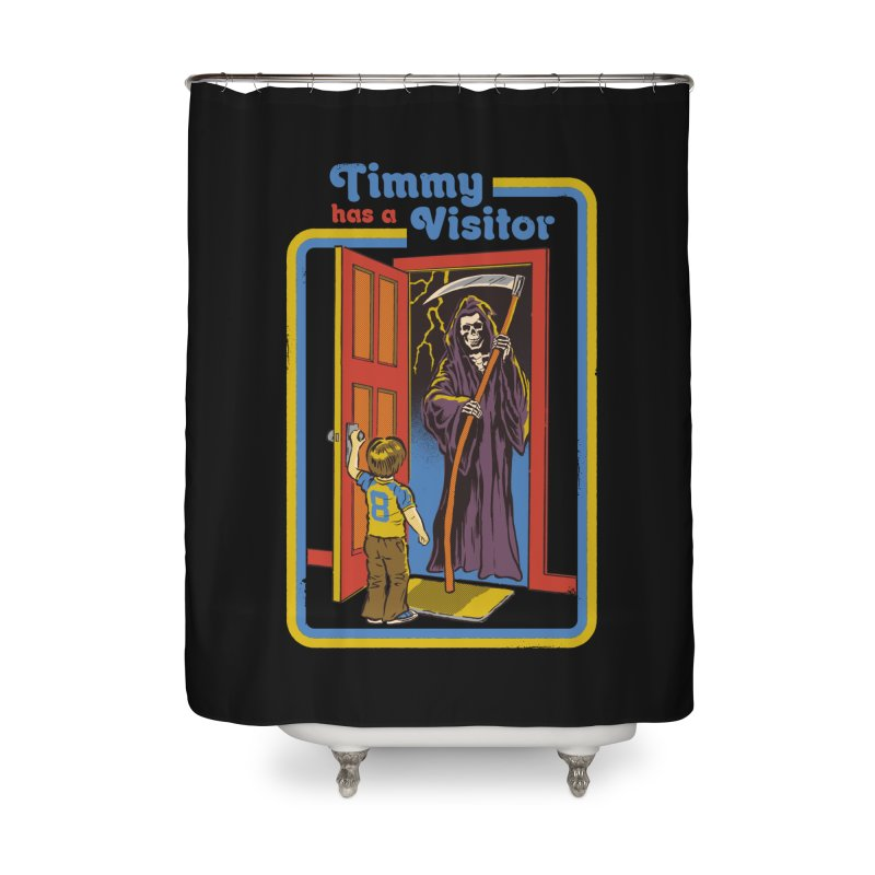 Timmy has a Visitor Home Shower Curtain by Steven Rhodes