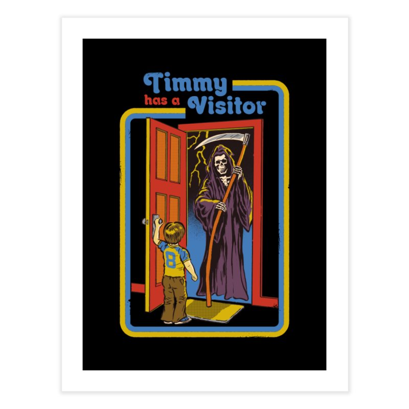Timmy has a Visitor Home Fine Art Print by Steven Rhodes