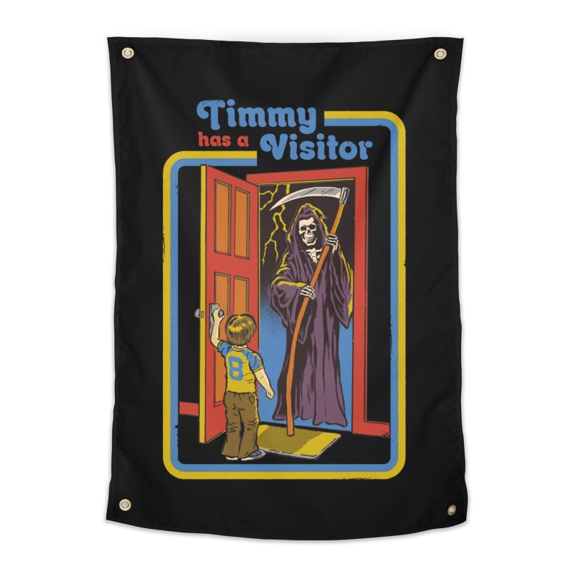 Timmy has a Visitor Home Tapestry by Steven Rhodes