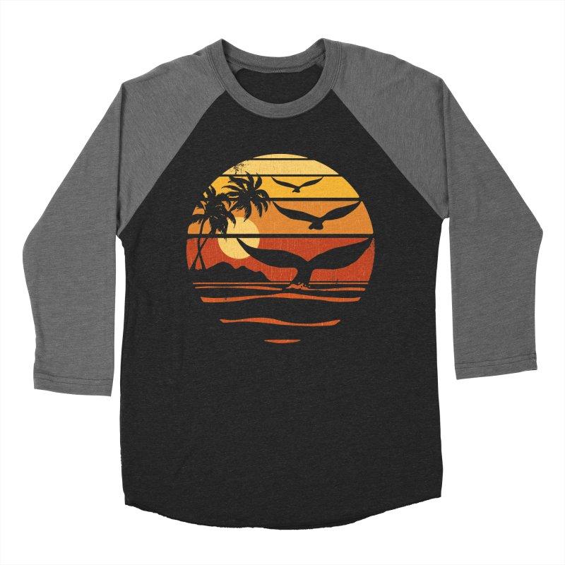 Ocean and Air Men's Baseball Triblend T-Shirt by Steven Rhodes