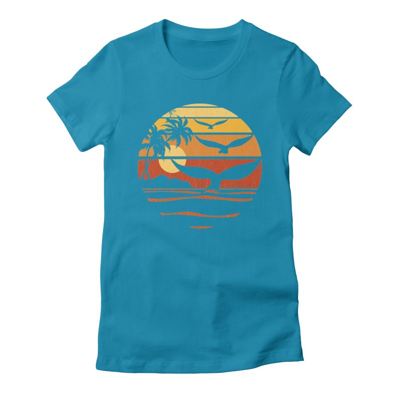 Ocean and Air Women's Fitted T-Shirt by Steven Rhodes