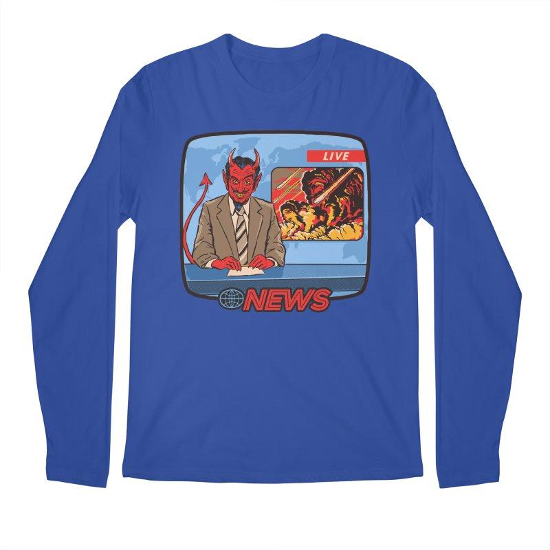 Breaking News Men's Longsleeve T-Shirt by Steven Rhodes