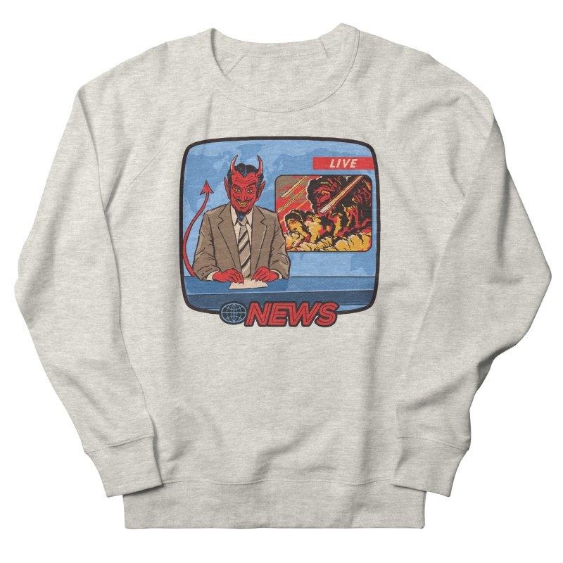 Breaking News Men's Sweatshirt by Steven Rhodes